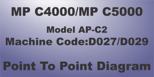 rICOH mp c4000 point to point diagram