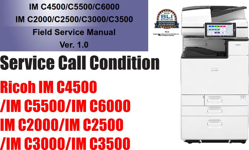 Service Call for Ricoh IM C4500